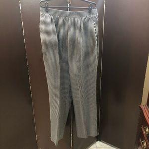 Koret black and white seersucker pants size 16